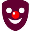 Automatically add clipart-style masks to on-screen faces with Funny Mask