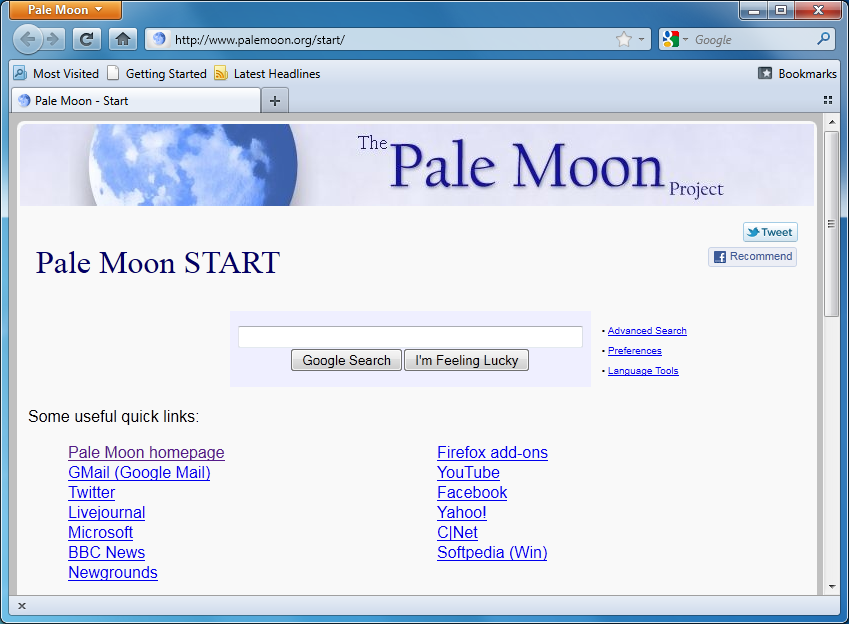 Pale Moon 5. It's just like Firefox 5 – only faster - Misc Software - PC & Tech Authority