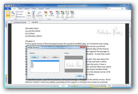 how to add signature to adobe document on pc