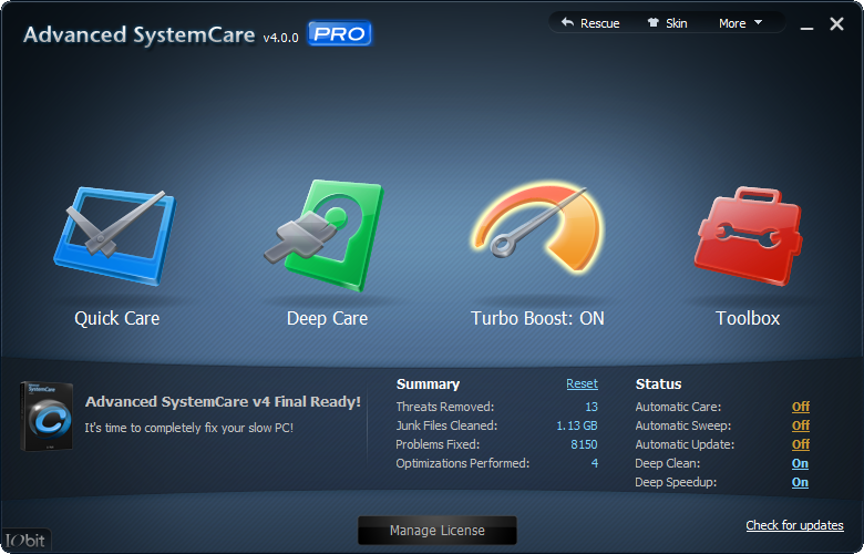 of Advanced SystemCare PRO 4 for free with our software giveaway
