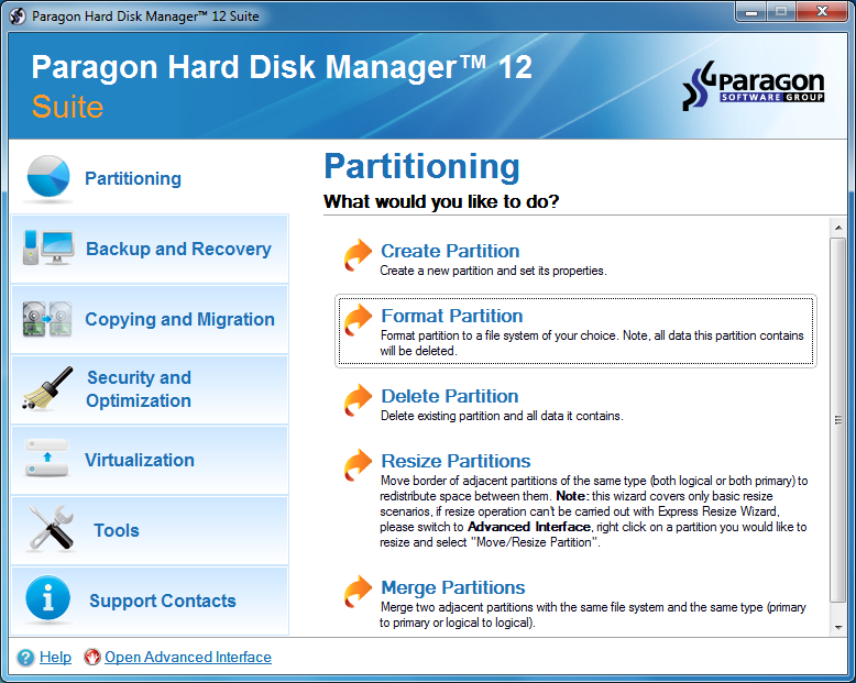 paragon disk manager 12 promises faster partitioning