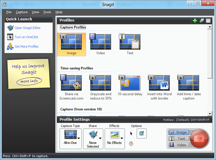 free snagit type software