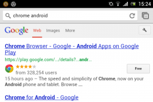 oogle Chrome for Android 27