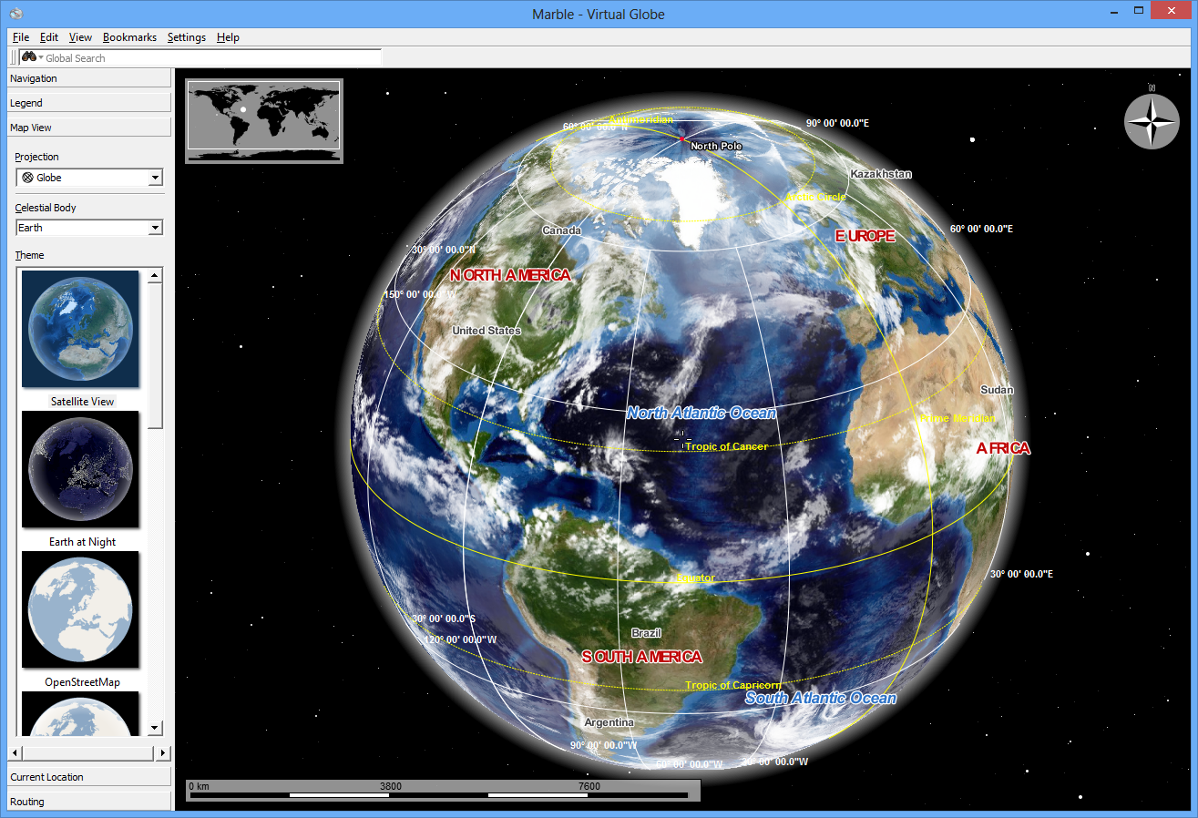 Marble an open source alternative to google earth from softwarecrew street map navigation tool and thats just the start gumiabroncs Images