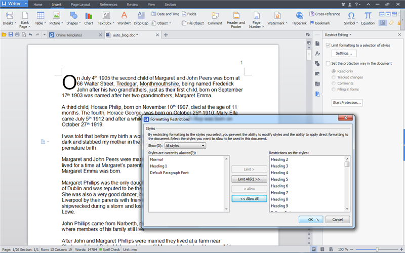 Kingsoft writer document download