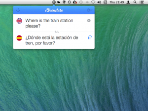 iTranslate for Mac 1 0 translates words, sentences and