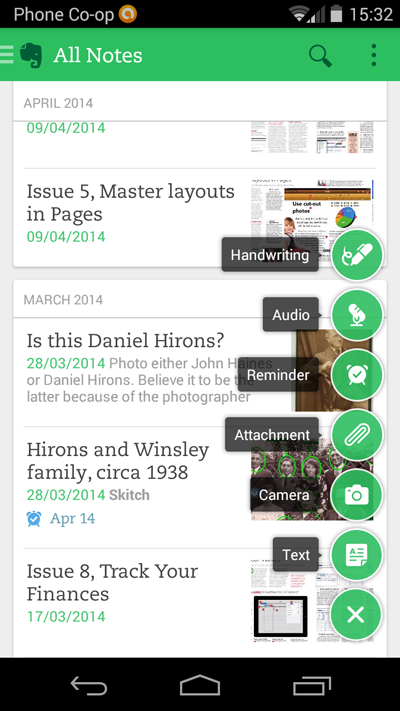 evernote for android 6 0 unveils fresh new look adds web clipper support from softwarecrew