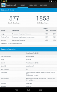 GeekBench 3.2 for Android