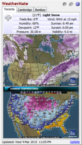 WeatherMate 40 now portable supports 100 US weather maps from
