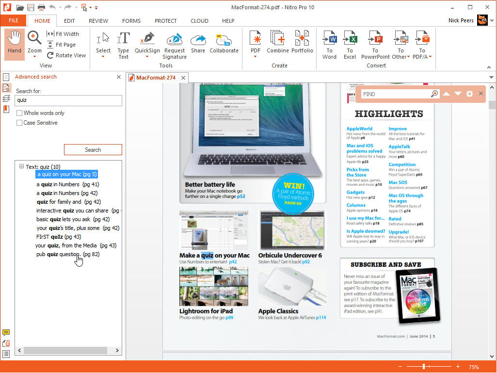 review  nitro pro 10 - software