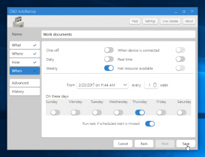 A new user interface and ability to run missed tasks make up two of O&O AutoBackup 6.0's highlights.