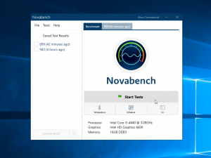 Novabench 4.0 on Windows