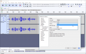 Audacity 2.2.0 unveils a new themed interface, but you can switch back.