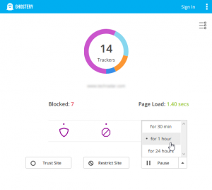 Ghostery 8.0 - Simple View